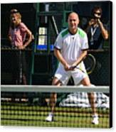 Agassi Warmup Canvas Print by Anne Babineau