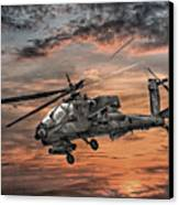 Ah-64 Apache Attack Helicopter Canvas Print by Randy Steele