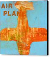Airplane Canvas Print by Laurie Breen