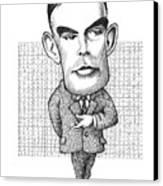 Alan Turing, British Mathematician Canvas Print by Gary Brown
