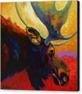 Alaskan Spirit - Moose Canvas Print by Marion Rose