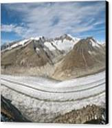 Aletsch Glacier, Switzerland Canvas Print by Dr Juerg Alean