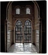 Alhambra Window Canvas Print by Jane Rix