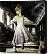 Alice And The Rabbit Canvas Print by Bob Orsillo