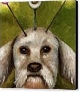Alien Dog Canvas Print by Leah Saulnier The Painting Maniac