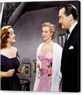 All About Eve, From Left Bette Davis Canvas Print by Everett
