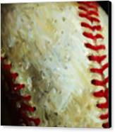 All American Pastime - Baseball - Vertical Cut - Painterly Canvas Print by Wingsdomain Art and Photography