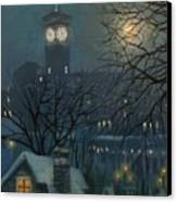 Allen Bradley Clock Milwaukee Canvas Print by Tom Shropshire
