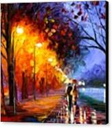 Alley By The Lake Canvas Print by Leonid Afremov