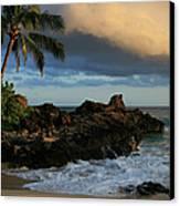 Aloha Naau Sunset Paako Beach Honuaula Makena Maui Hawaii Canvas Print by Sharon Mau