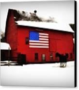 American Barn Canvas Print by Bill Cannon