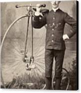American Bicyclist, 1880s Canvas Print by Granger