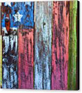 American Flag Gate Canvas Print by Garry Gay