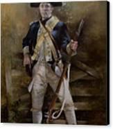 American Infantryman C.1777 Canvas Print by Chris Collingwood