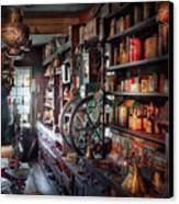 Americana - Store - Corner Grocer  Canvas Print by Mike Savad