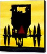 Amish Buggy At Dusk Canvas Print by Michael Vigliotti