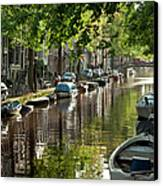 Amsterdam Canal Canvas Print by Joan Carroll