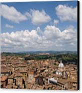 An Aerial Of Sienna, Tuscany Canvas Print by Joel Sartore