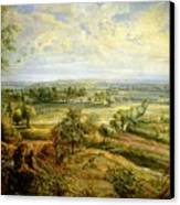 An Autumn Landscape With A View Of Het Steen In The Early Morning Canvas Print by Rubens