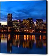 An Evening In Portland Canvas Print by Brian Bonham