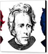 Andrew Jackson Red White And Blue Canvas Print by War Is Hell Store