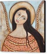 Angel Of Silence Canvas Print by Rain Ririn