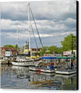 Annapolis Maryland City Dock Ego Alley Canvas Print by Brendan Reals