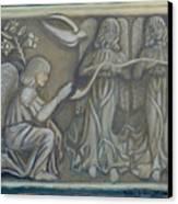 Annunciation - Existing Fragment Canvas Print by Anna Folkartanna Maciejewska-Dyba