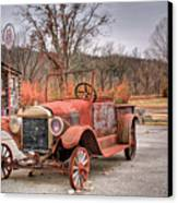 Antique Car And Filling Station 1 Canvas Print by Douglas Barnett