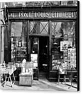 Antique Shop Paris France Canvas Print by Gerry Walden