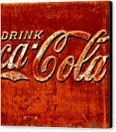Antique Soda Cooler 3 Canvas Print by Stephen Anderson