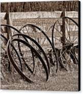 Antique Wagon Wheels I Canvas Print by Tom Mc Nemar