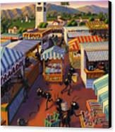 Ants At The Hollywood Farmers Market Canvas Print by Robin Moline