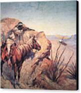 Apache Ambush Canvas Print by Frederic Remington