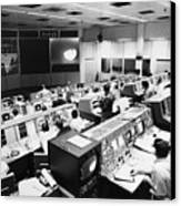 Apollo 8: Mission Control Canvas Print by Granger