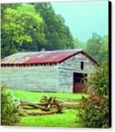 Appalachian Livestock Barn Canvas Print by Desiree Paquette