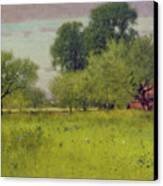 Apple Orchard Canvas Print by George Snr Inness