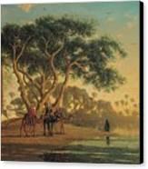 Arab Oasis Canvas Print by Narcisse Berchere