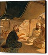 Arabs In The Desert Canvas Print by Frederick Goodall