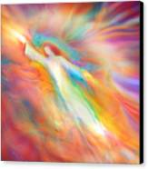 Archangel Jophiel Illuminating The Ethers Canvas Print by Glenyss Bourne