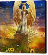 Archangel Uriel Canvas Print by Steve Roberts