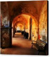Arched Spanish Hall Canvas Print by Perry Webster