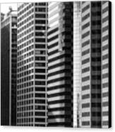 Architecture Nyc Bw Canvas Print by Chuck Kuhn