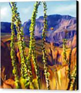 Arizona Superstition Mountains Canvas Print by Bob Salo