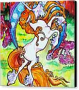 Artsy Nouveau Unicorn Canvas Print by Jenn Cunningham