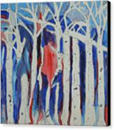 Aspen Roots Canvas Print by Christy Woodland