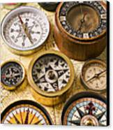 Assorted Compasses Canvas Print by Garry Gay