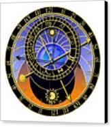 Astronomical Clock Canvas Print by Michal Boubin