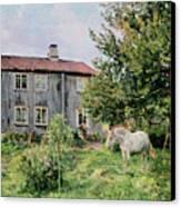 At The Farm Canvas Print by Gerhard Peter Frantz Vilhelm Munthe