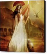 Athena Canvas Print by Mary Hood